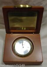 Danbury  Clock Company Heavy Wooden Box Table Top Clock