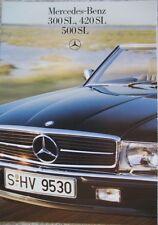 Prospekt Mercedes R107    300SL - 420SL - 500SL  01/88