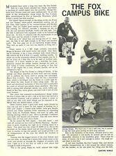 Vintage 1963 Fox Campus Bike Mini-Bike Test Report
