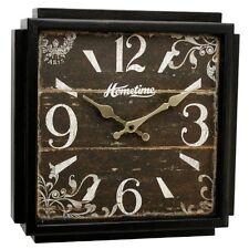 Reloj De Pared nuevo Reloj de pared de madera cuadrado Hometime-Abilene Rrp £ 25.99 Oferta