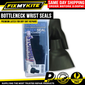 2X WRIST REPLACEMENT LATEX BOTTLENECK SEALS FOR DRYSUIT SCUBA DIVING REPAIR KIT