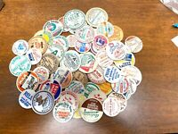 Vintage Milk Bottle Caps -  Lot of 100 With 50 Different-  Disk Style