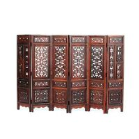"""Nice Chinese rosewood carved screen Miniature furniture for ornament statue 9.5"""""""