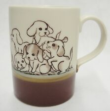 Otagiri Playful Puppies Pup Mug Two-Tone Brown Cute