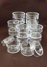 Multi Purpose Clear Plastic Mini BoxRound Shape Storage container Organizer12pcs