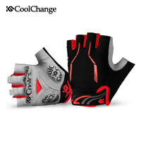 Durable Cycling Mountain Bike Bicycle Short Finger Gloves Breathable Red Gloves