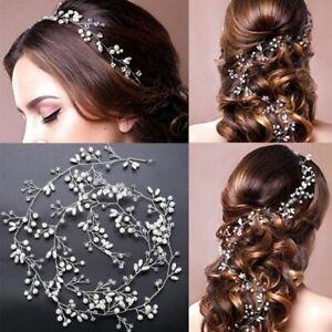 Wedding Hair Accessories Crystal Pearl Hair Belt Wedding Bridal Hair Ornaments