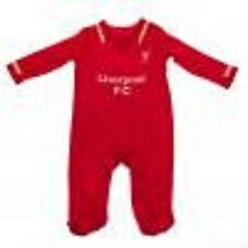 Liverpool FC Babies Sleepsuit Size 6 to 9 Months Official LFC Baby Clothing (rw)