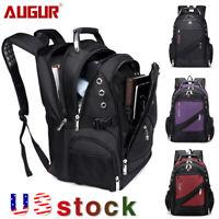 "AUGUR Men Travel Rucksack 15.6"" Laptop Backpack Bag Notebook Hiking School bag"