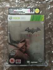 NEW FACTORY SEALED BATMAN ARKHAM CITY STEELBOOK XBOX 360 VGA GOLD GRADED 90 GOLD