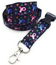 Spirius CANCER LOGO  Lanyard neck strap for key id badge holder phone key 1