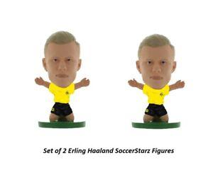 Set of 2 Erling Haaland SoccerStarz Mini 2 Inch Figures BVB Dortmund Official