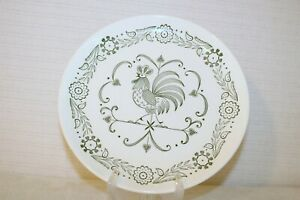 """SCIO PROVINCIAL Green Rooster Weather Vane USA9 1/4"""" Dinner Plates (Set of 2)"""