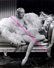 CAROLE LOMBARD STUNNING IN FEATHERS AND STRAPPY HEELS LEGGY PHOTO A-CL39