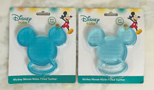 NWT Blue Disney Baby Mickey Mouse Water Filled Teether Ring 2pc Set No BPA