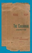 Old EMPTY cigarette packet outer wrapper for 10 packs Lea The Chairman #848
