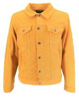 Mens 60s Retro Vintage Gold Cord Western Trucker Jacket …