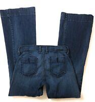 Lucky Brand Jeans Womens Sz 6 Regal Trousser Dark Wash Bell Bottom Flare