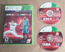 MLB 2K13/NBA 2K13 Combo Pack (Microsoft Xbox 360, 2013) GAME COMPLETE