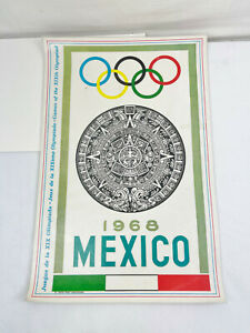 VINTAGE 1968 MEXICO OLYMPIC GAMES PLACEMAT - 1972 OLYMPIC GAMES MUNICH