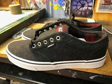 Vans Atwood Plaid Black Red Wool Size US 9 Men's New