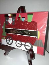 Christmas Card with envelope - New -unused wrapped P. S. Greetings Train