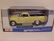 1965 Chevy El Camino Pick-up Truck Die-cast Car 1:25 Maisto 8 inch Yellow