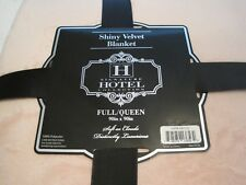 """SIGNATURE HOTEL COLLECTION FULL/QUEEN 90"""" X 90"""" SHINY VELVET SOFT BLANKET-PEACHY"""