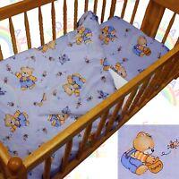 baby BEDDING set crib cot Bear Bees Blue DUVET bumper MOSES BASKET sheet BOY