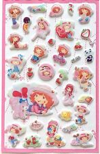 Lovely Kawaii Strawberry Shortcake 3D Vinyl Sticker Girl Kids Decor Gift JAPAN