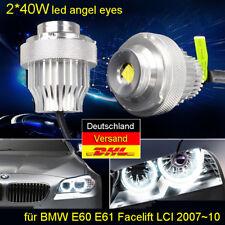 80W CREE LED Halo Marker Standlicht Lichter BMW Angel Eyes 07-10 5er E60 E61 LCI