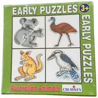 Early JIGSAW Puzzle AUSTRALIAN ANIMALS Educational TODDLER PRESCHOOL Toy KIDS