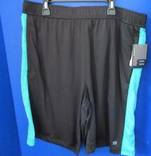 LAYER 8~Black & Green QWIK-DRY ATHLETIC SHORTS~Men's Large~NWT
