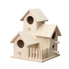 Creative House Shaped Wooden Birdhouse Hanging Nest Home Garden Decoration