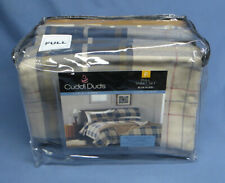 Cuddle Duds Heavyweight Cotton Flannel Sheet Set Full, Missing Fitted Sheet NIP
