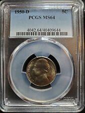 1950-D Jefferson Nickel PCGS MS-64