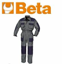 Beta WorkWear - Lightweight Overalls - Size XXL - Taupe with Navy Inserts