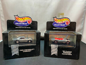 Hot Wheels Black Box 1969 Chevrolet Camaro & 1968 Custom Pontiac Firebird Lot