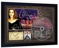 Celine Dion Titanic Leonardo DiCaprio Movie SIGNED FRAMED PHOTO & CD Disc