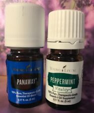 New Sealed Young Living Peppermint Vitality & Panaway  5 ML Essential Oils