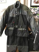 A Nice Gear Two Piece Textile Motorcycle Biker Suit. Size XL