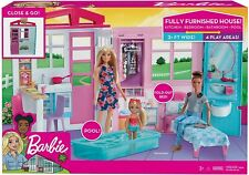 Barbie Dolls House Fully Furnished 60+ Cm 2 ft Wide 21 Accessories Age 3+ FXG54
