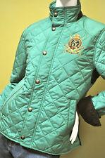 Ralph Lauren Sport Womens Equestrian Quilted Green Barn Jacket Coat Sz Medium