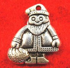 10Pcs. Tibetan Silver Christmas SANTA CLAUS Charm Pendants Earring Drops CH59