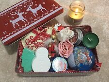 CHRISTMAS GIFT LADIES KIDS CHRISTMAS HAMPER BASKET PAMPER AND SWEETS IN TIN