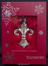 Waterford Ornamenti D'Argento 2014 con motivo gigli idea Albero di Natale, Bauble