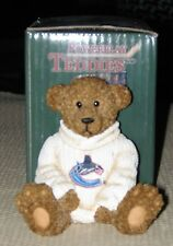 Vancouver Canucks Teddy Bear Handpainted Jersey NHL Collectible Elby Figurine