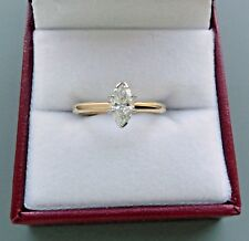 14K YELLOW GOLD 0.64CT MARQUISE DIAMOND ENGAGEMENT RING