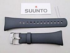 Genuine Suunto M1 M2 male men's plain black rubber watch band strap & pins