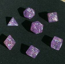 Udixi Dice Purple with gold foil dice set DnD RPG